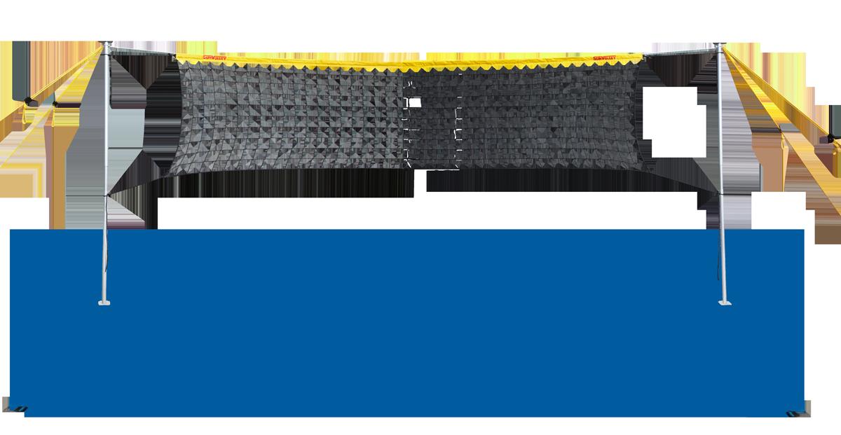 Set LC mit 9,5 m Netz